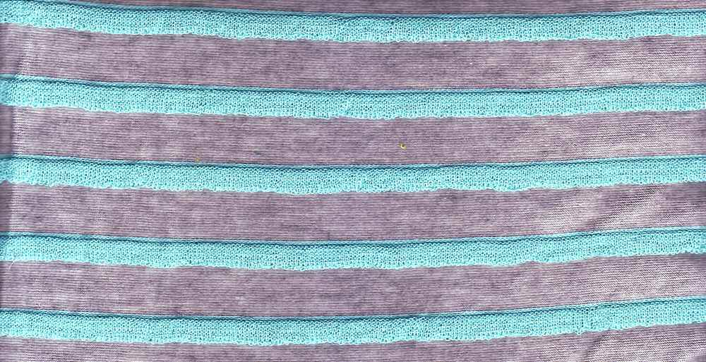 90826-1000 / #6HEATHER/AQUA / 65%Polyester 35%Rayon
