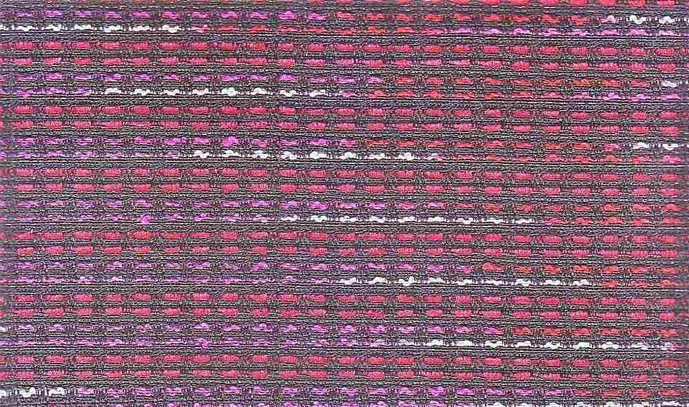 90840-1000 / #041BLK/RED/GRY / 52/30/18 COTTON POLY ACRYLIC BOUCLE