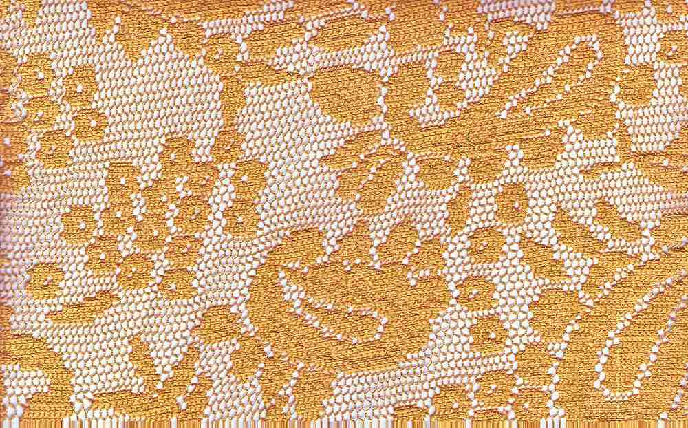 90914-1000 / #777GOLD / 100% Polyester Paisley Lace