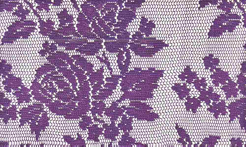 90921-1000 / #888 PUR / 100% POLYESTER BOUQUET ROSE LACE