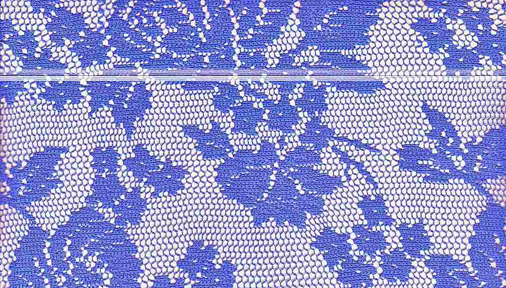 90921-1000 / #222BLU / 100% POLYESTER BOUQUET ROSE LACE