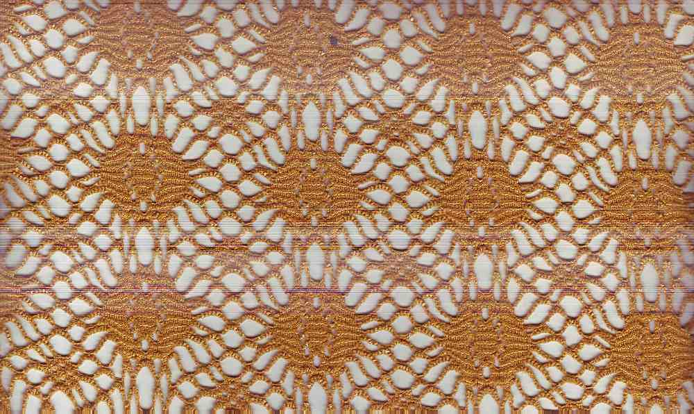 90933-1000 / #777 GOLD/GLD / 100% POLY CROCHET WITH FOG FOIL