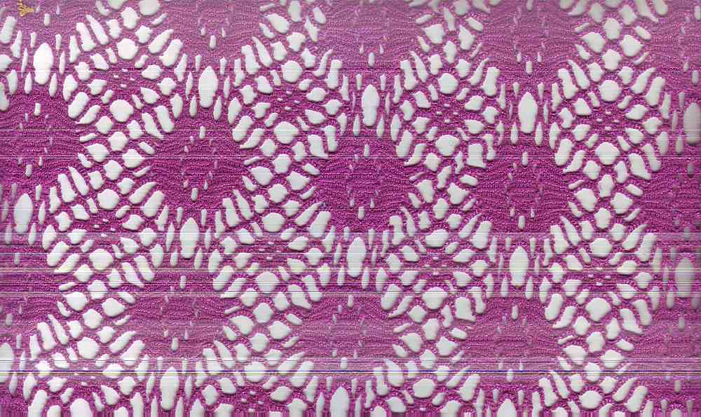 90933-1000 / #888 ORCHID/FUS / 100% POLY CROCHET WITH FOG FOIL