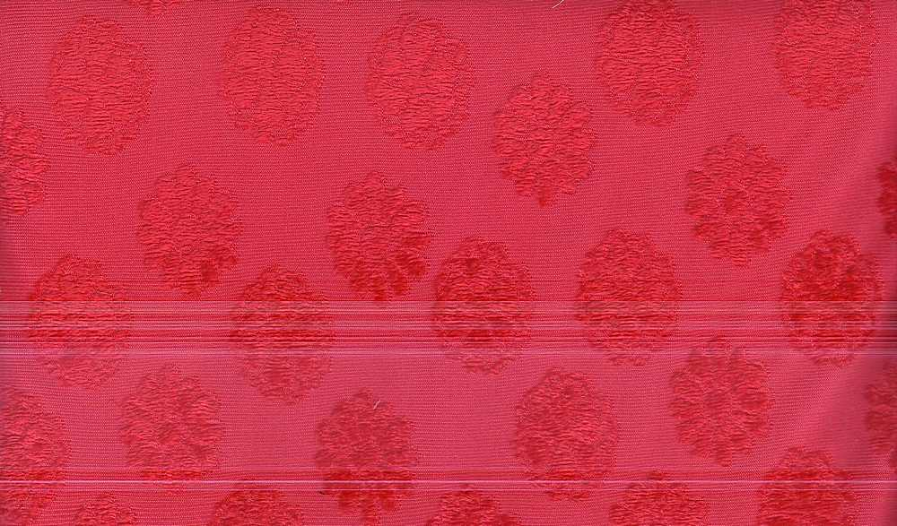90960-1000 / #444 RED / 100% Polyester Velour Panne Jacquard