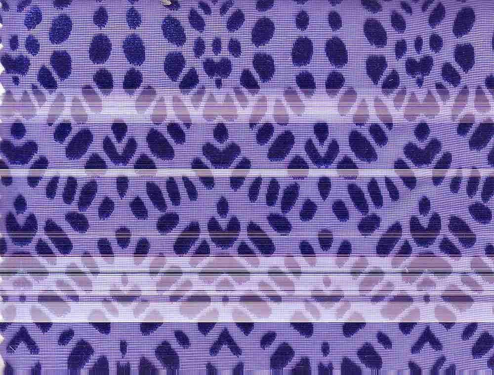 90959-67857 / #222  BLUE / 50/50 POLY RAYON WOVEN BURN-OUT VELVET