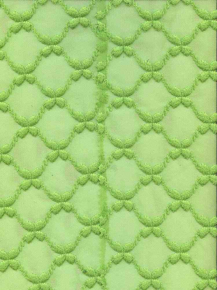 91111-1000 / #333 LIME / 100% POLYESTER FLOWER MESH