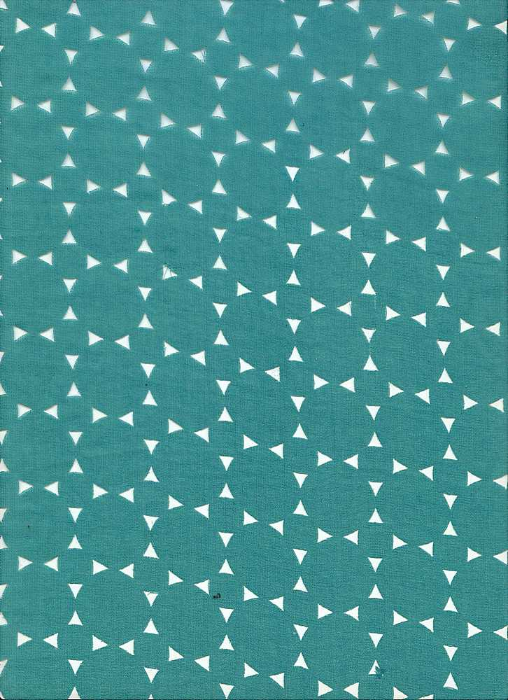 91149-1000 / #333GREEN / 100% POLYESTER GEO CUT OUT