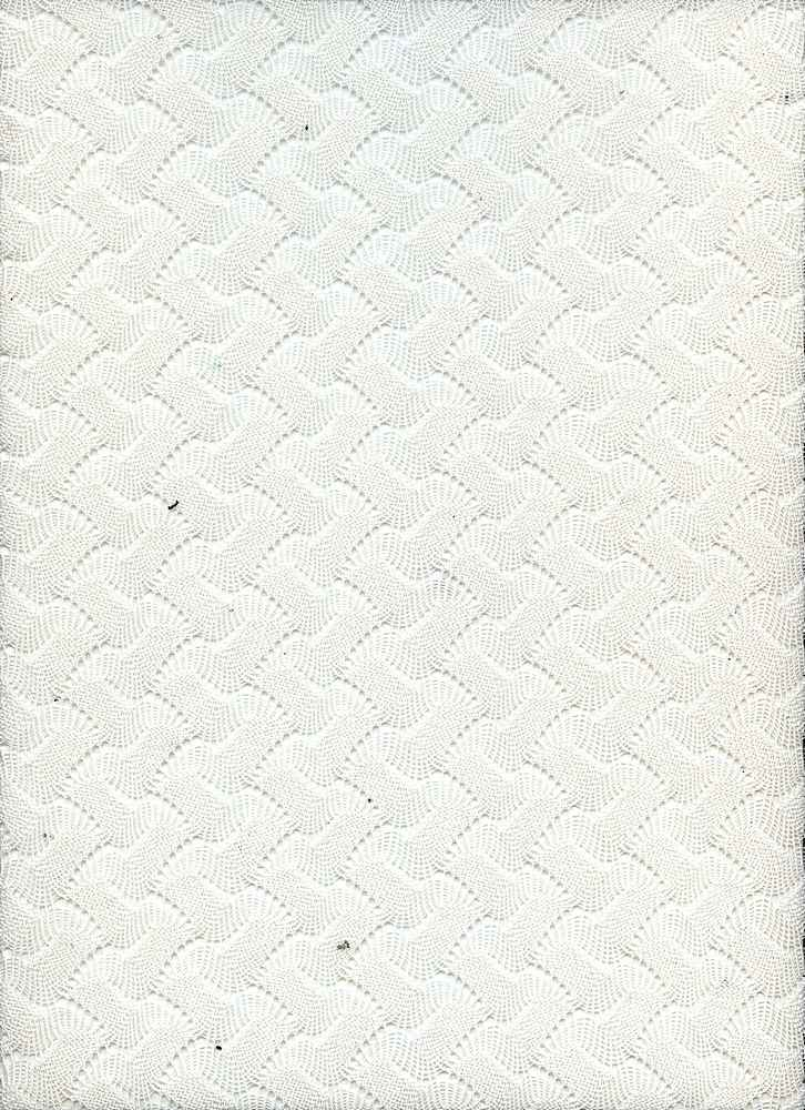 91206-1000 / #111IVORY / 80/20 POLY COTTON BASKET WEAVE SWEATER