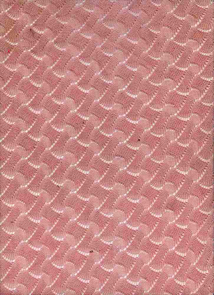 91206-1000 / #444PALE PINK / 80/20 POLY COTTON BASKET WEAVE SWEATER