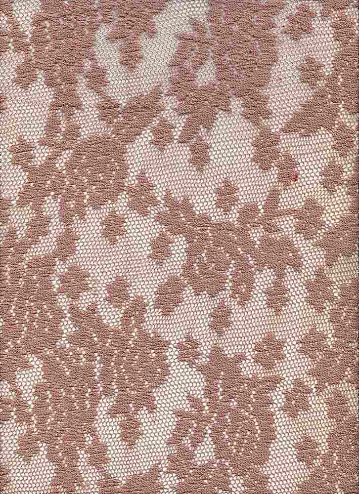 90991-1000 / #555TAUPE / 100% POLYESTER ROSEY MESH LACE