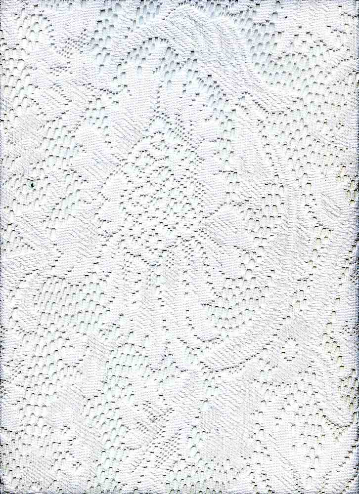 91294-1000 / #111 WHITE / 100% POLYESTER HEAVY FLORAL LACE