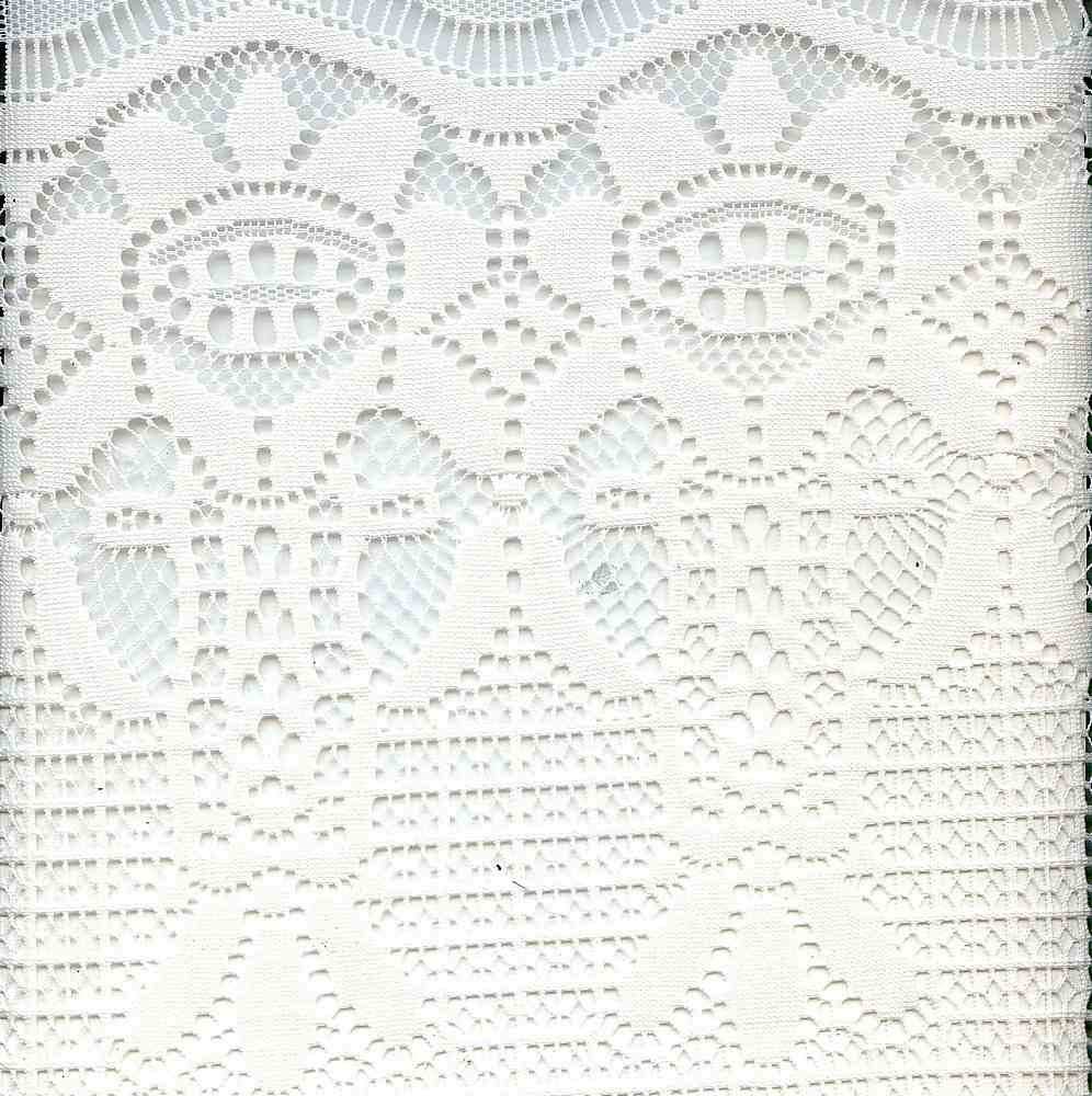 91358-1000 / #111WHITE / 100% POLYESTER LACE