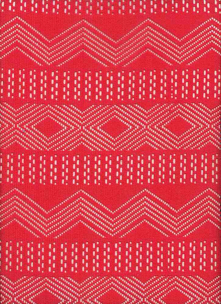 91343-1000 / #999CORAL / 100% POLY ETHNIC CROCHET