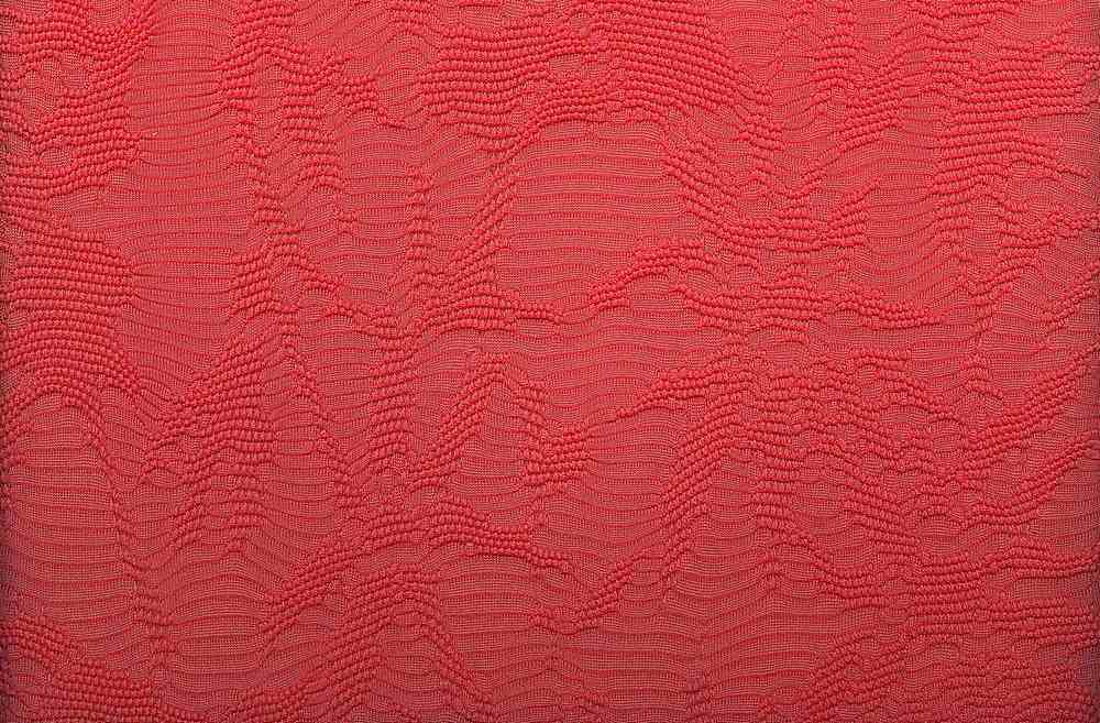 91404-1000 / #999CORAL / 97/3 POLY SPANDEX TEXTURE NOVELTY KNIT