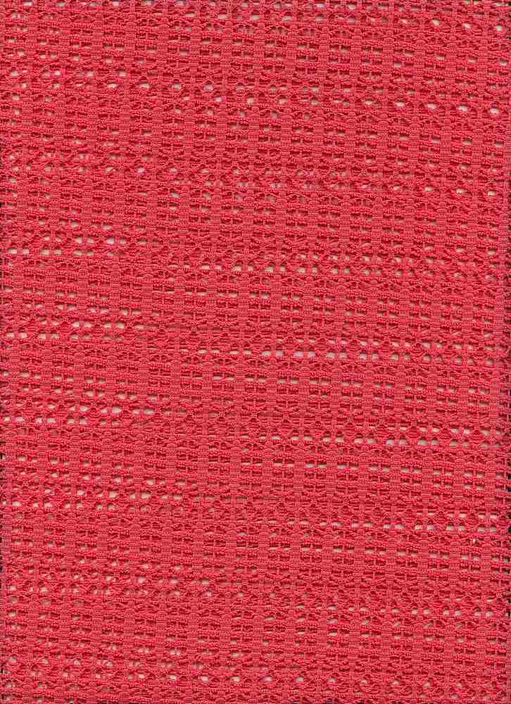 91408-1000 / #999CORAL / 96%POLY 4%SPANDEX TEXTURE CROCHET