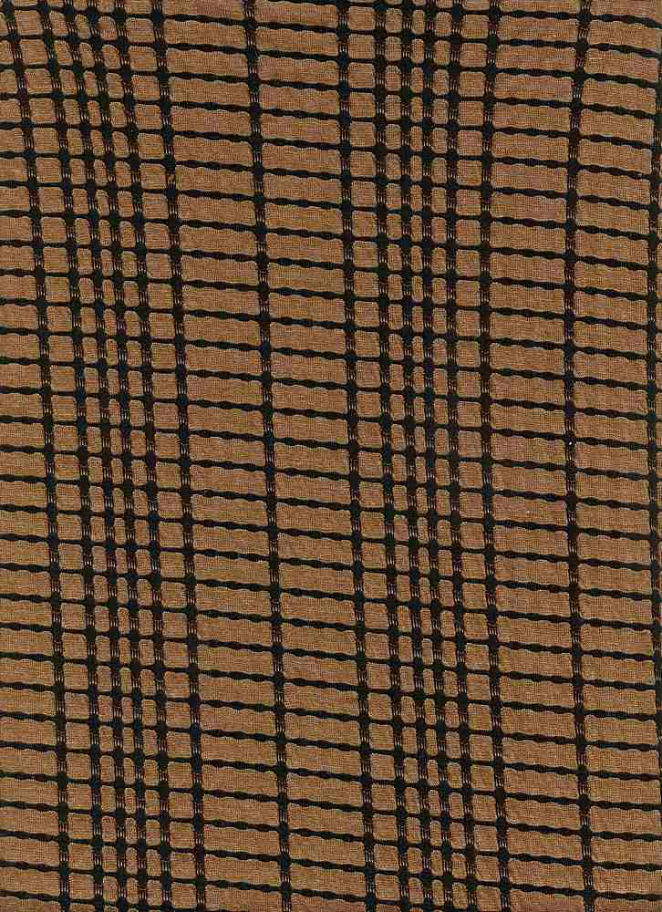 91317-1000 / #550MOCHA/BLK / 78%Poly 20%Rayon 2%Spandex Novelty Plaid Knit