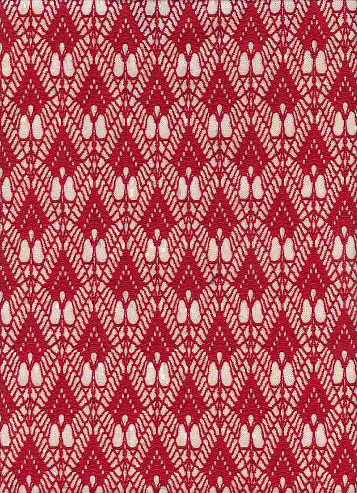 76289-1000 / #444CRANBERRY / 100%Polyester Art Deco Bonded Lace 54/55 295G/Y