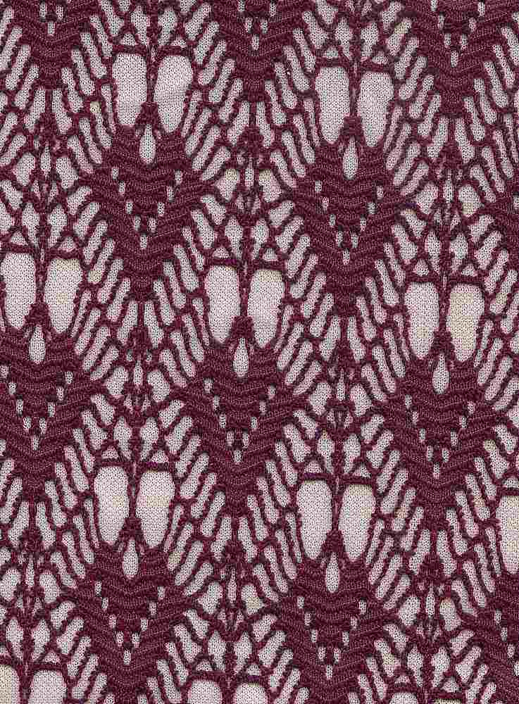 76289-1000 / #888ITAL.PLUM / 100%Polyester Art Deco Bonded Lace 54/55 295G/Y
