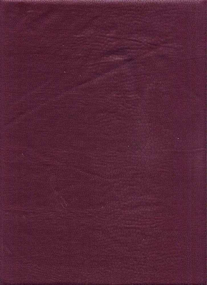 76311-1000 / #888ITALIAN PLUM / REPTILE COATED KNT JERSEY 94/6POLY SPAN 58/60 180GS
