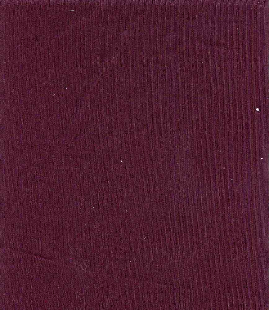 76323-1100 / #888ITAL. PLUM / Shimmer Baby French Terry 72poly 28rayon 125gsm
