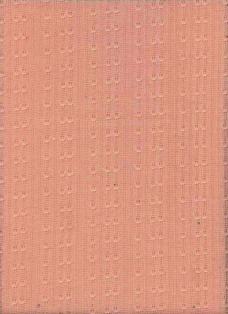 76413-1000 / #999SOFT PEACH / POINTELLE RIB SWEATER 100%POLY  135GSM 68/72""