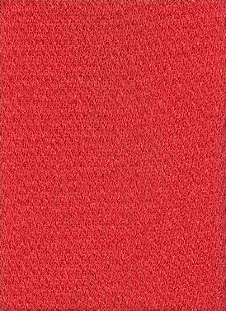"""76410-1100 / #999CORALLINA / POINTELLE LT SWEATER 100% POLY 63""""  140GSM"""
