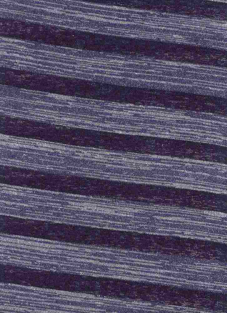 76440-1100 / #222 NAVY / MULTI TEXTURE STRIPE KNIT 57/43 POLY RAYON 160GSM