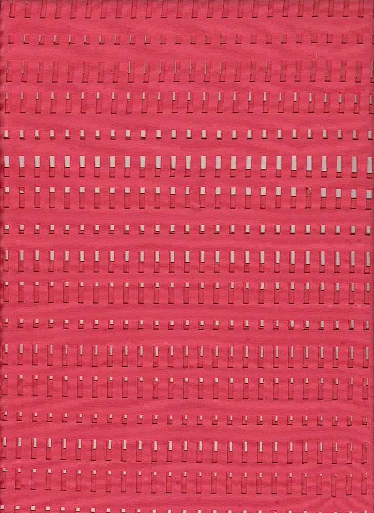 76472-1000 / #999HI CORAL / WINDOW SCUBA LAZER CUT 96/4PLY SPN 240GSM 59""
