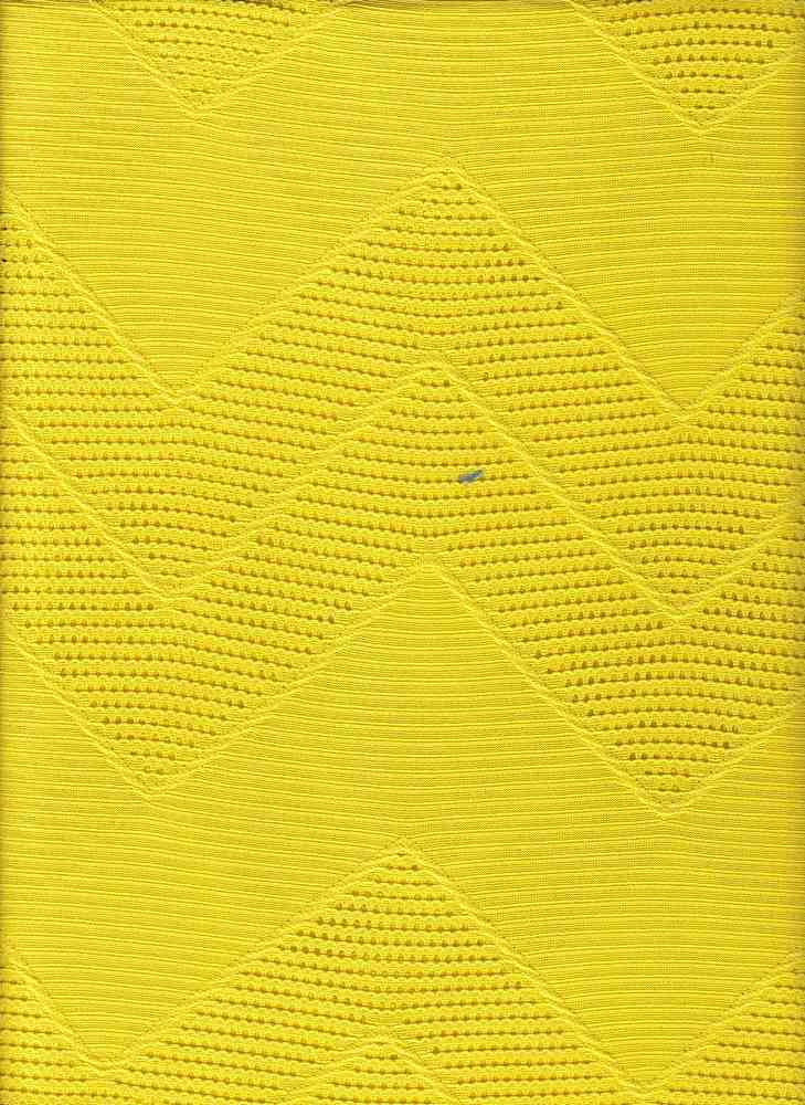 76498-1000 / #777LEMON / CHEVRON CROCHET MESH 100%POLY 138GSM 60""