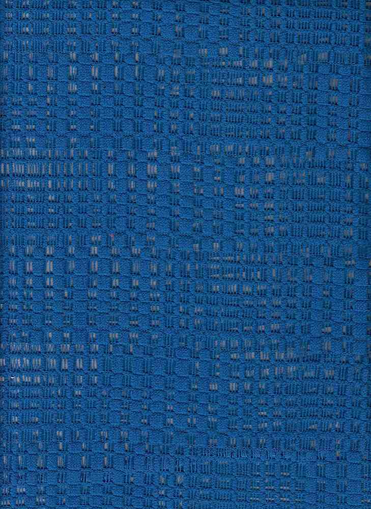 """76513-1100 / #222BLUE RELIEF / GRID CROCHET 100% POLY 174GSM 60/61"""""""