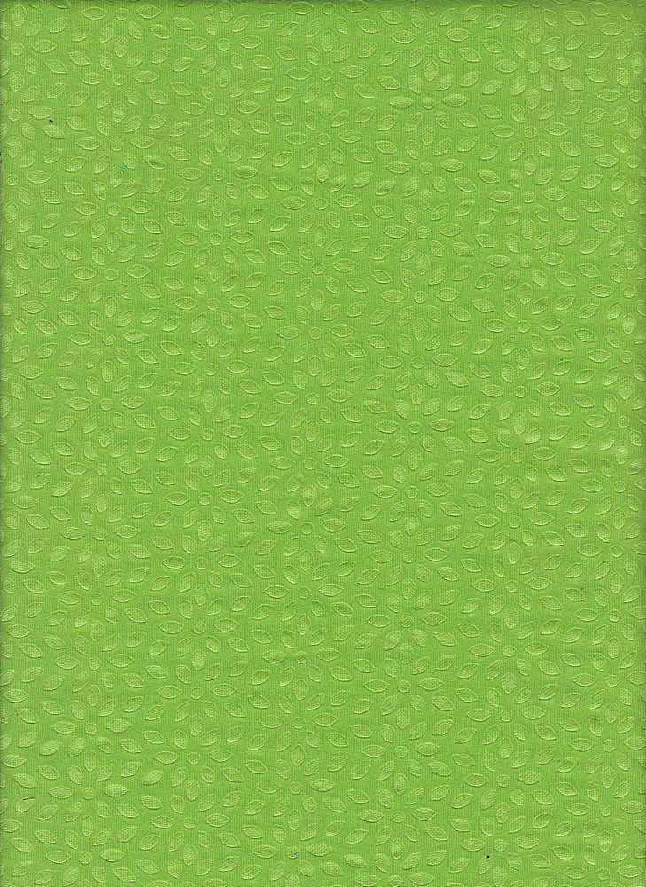 76516-1000 / #333LIME / FLOWER POWER EMBOSSED SCUBA 96/4 POLY SPAN 265GSM
