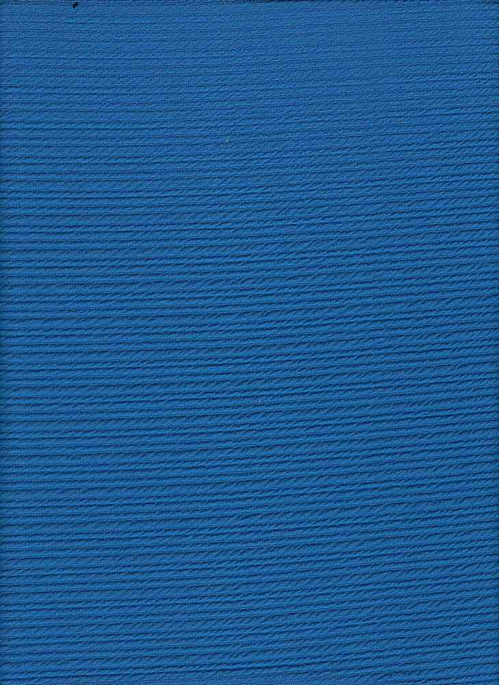 """76528-1100 / #222BLUE RELIEF / CRINKLE OTTOMAN 95/5 POLY SPAN  200GSM 65/67"""""""