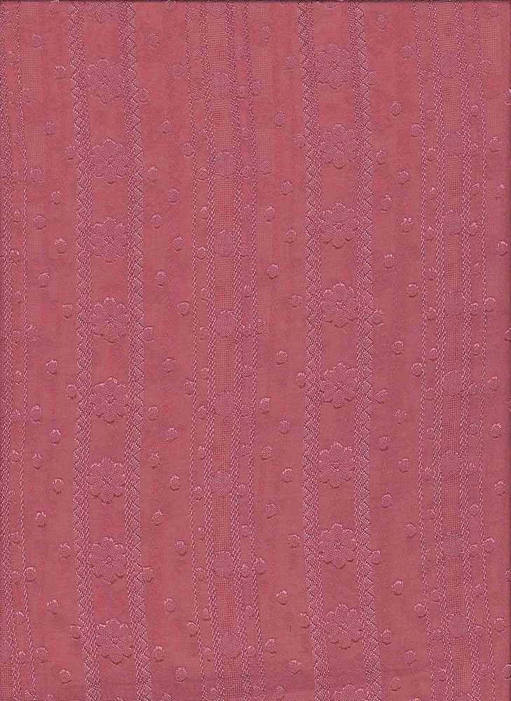 """91482-1000 / #444RETRO ROSE / WALLPAPER FLORAL SOFT WOVEN 100%POLY 65gsm 57/58"""""""