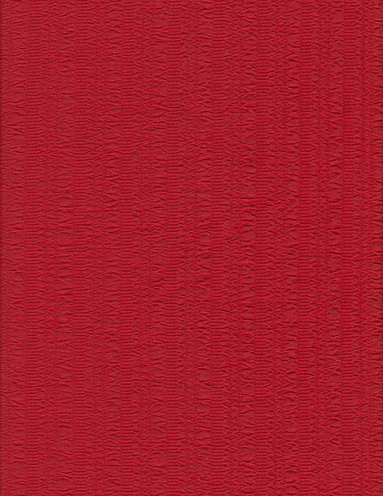 """76564-1000 / #444RED DESERT / BLISTER KNIT JAQ 95/5 POLY SPAN 60"""" 230GSM"""