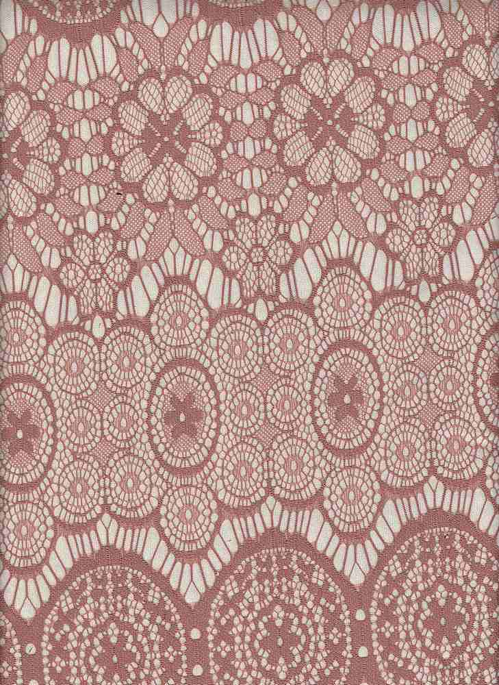 76579-1000 / #555WARM BROWN / MEDALLION FLORAL BONDED LACE 100%NYLON LACE 150GSM