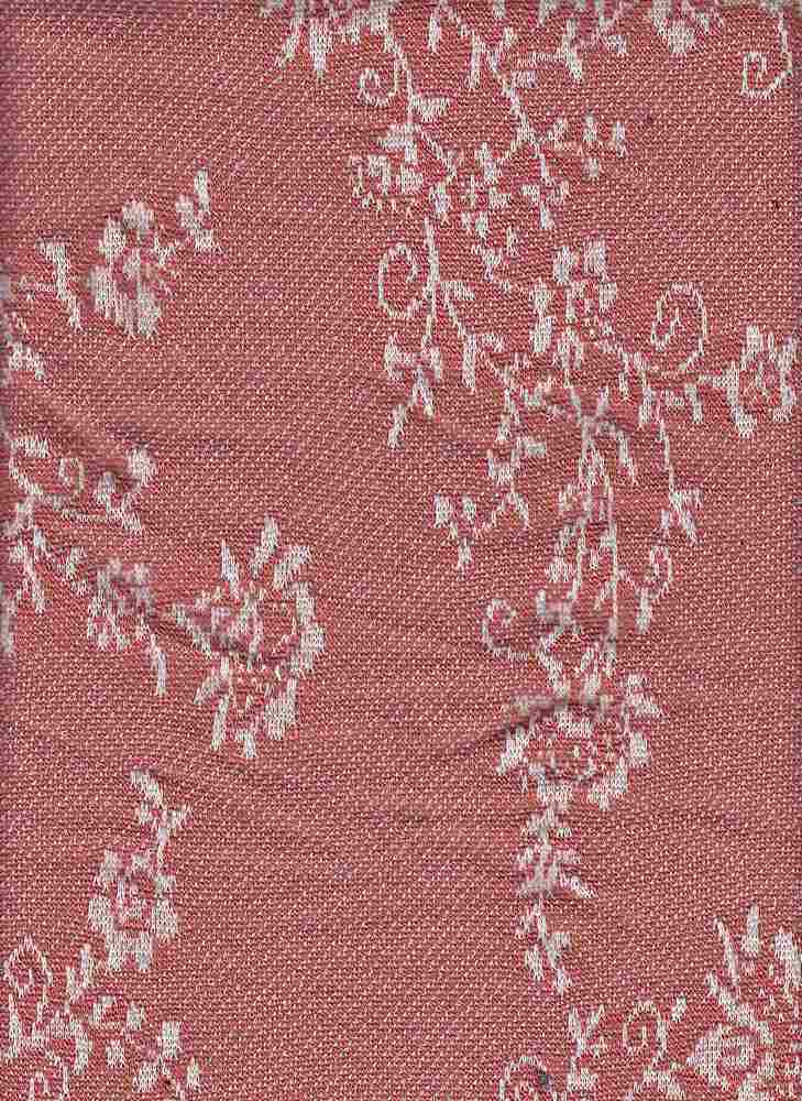 76631-70890 / #999RUSTY ROSE / FOLK FLORAL SWEATER 49/49/2 PLY RYN SPAN 205GSM
