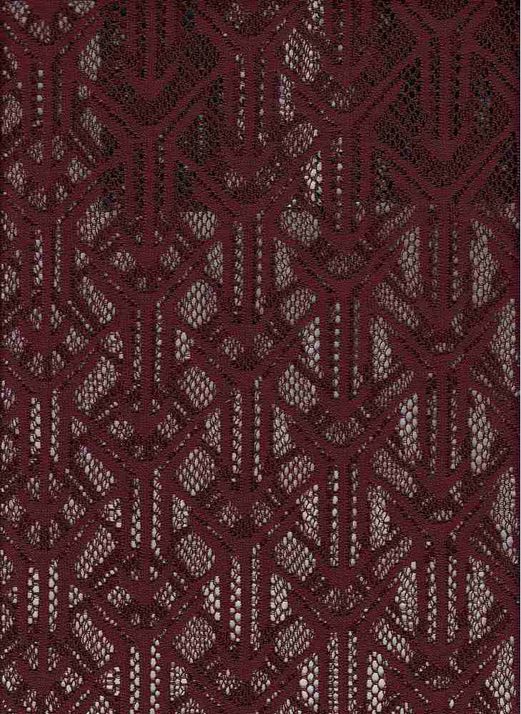 76668-1100 / #444BURG NOIR / ARROWHEAD STRETCH LACE 92/8 PLY SPAN 58/59 105GSM