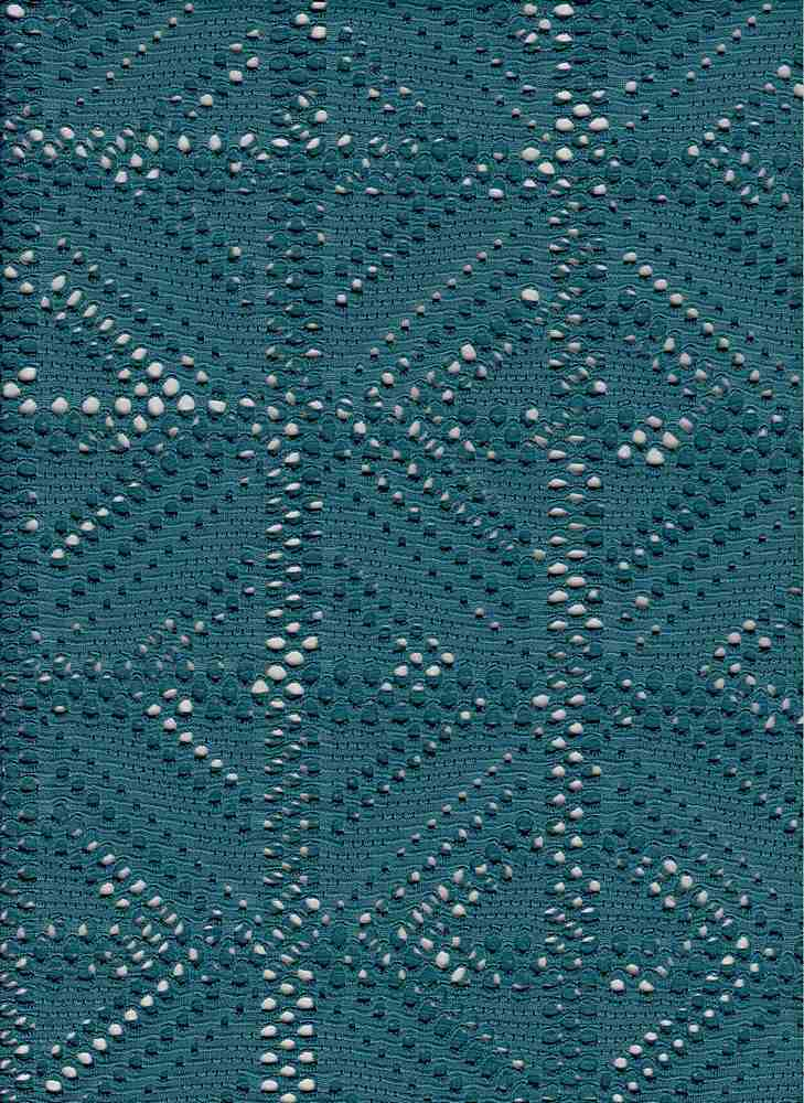76676-1000 / #666TEAL / COCO CROCHET 100% POLY 54/56' 161GSM