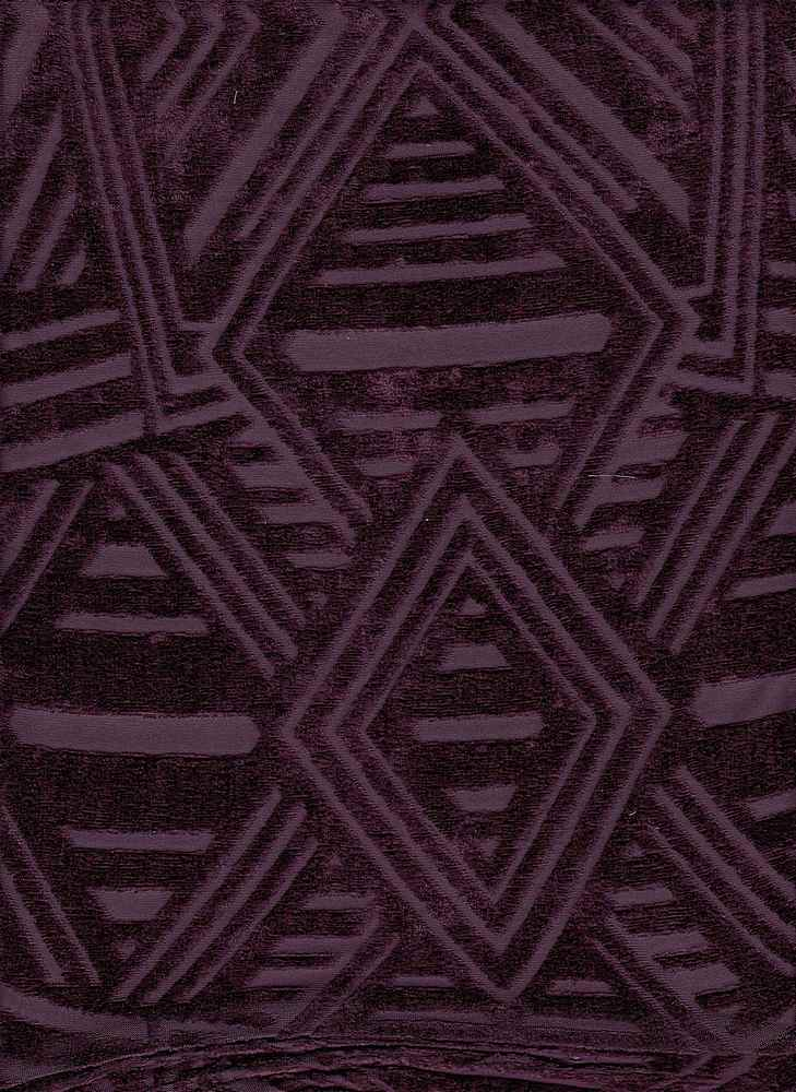 """76680-1000 / #888AUBERGINE / ART DECO PANNE B/OUT 100%POLY 135gsm 56/58"""""""
