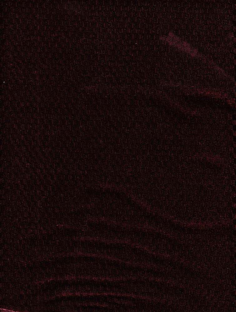 76681-1000 / #444CORDOVAN / CHECKBOARD STEAM VELOUR 100%POLY 200GSM 63""