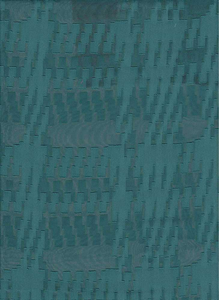 """91491-1000 / #666TEAL / CLIP HOUNDSTOOTH CHIFFON 100%POLY 57/58"""" 80GSM"""