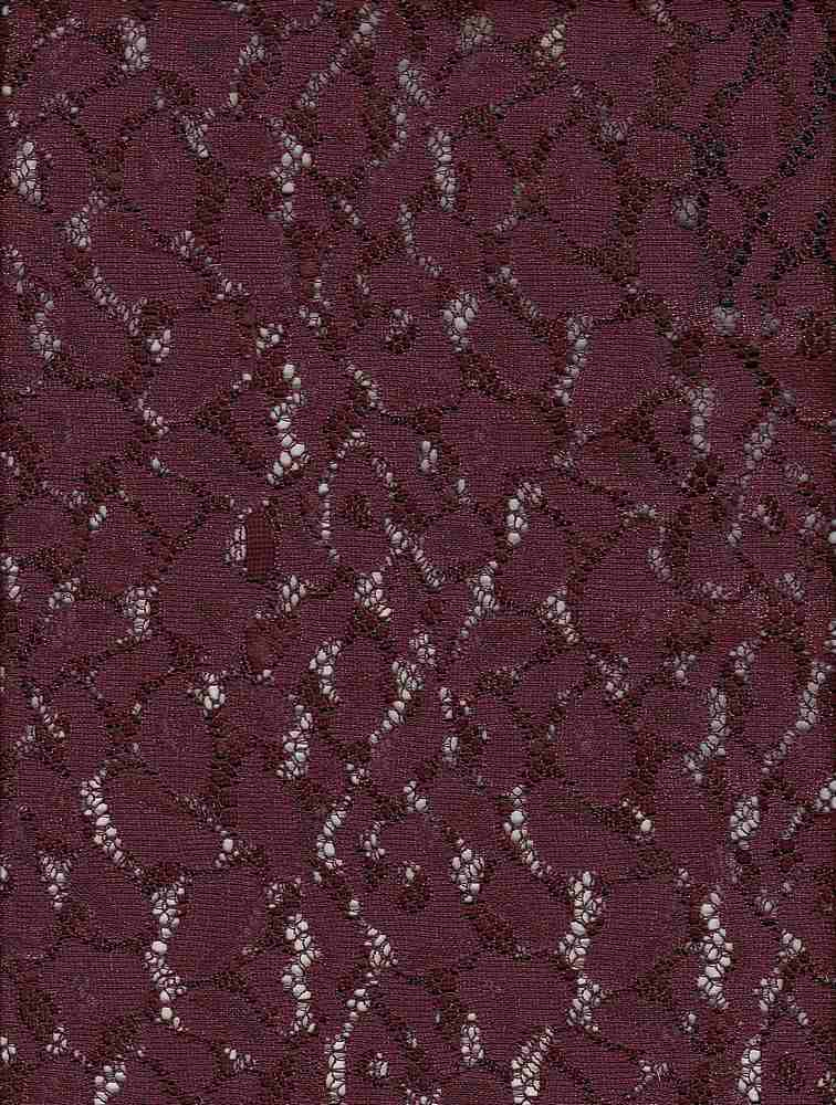 76731-1001 / #888AUBERGINE / ANIMAL SHEEN LACE 100%POLY 57/58 115GSM