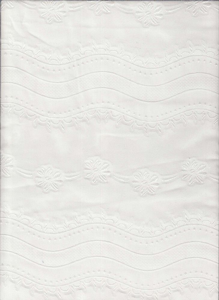 """91498-1000 / #111IVORY / PUFF B/O WAVE WOVEN 100%POLY 80GSM 57/58"""""""