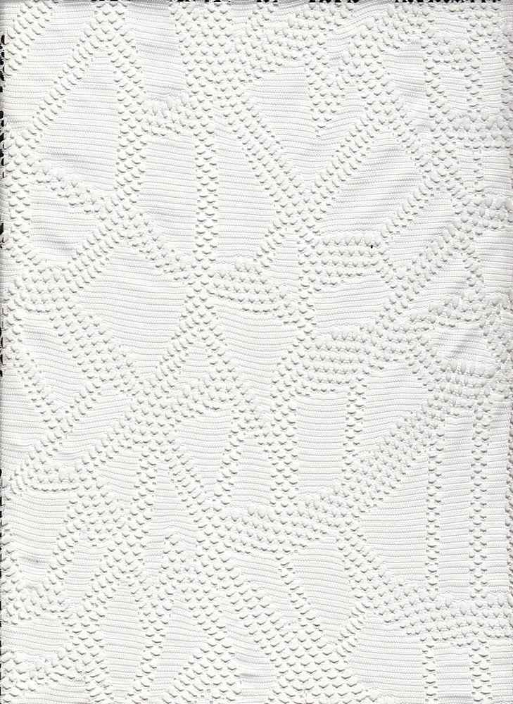76736-71587 / #111IVORY / PARTY CROCHET 95/5 POLY SPAN 145GSM 57/58""