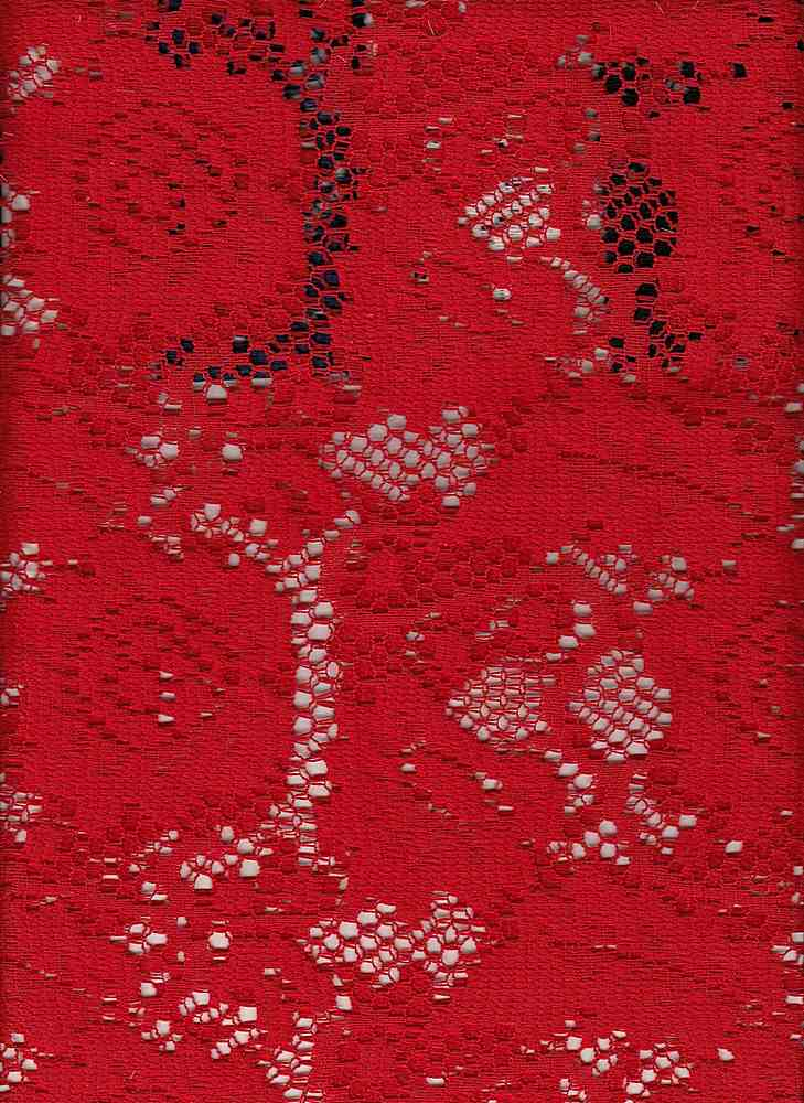 76748-1000 / #444RED / ELLIE CROCHET 100% POLY 135GSM 57/58""