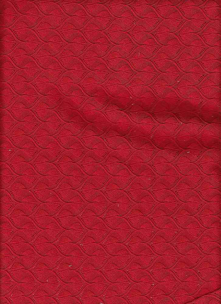 "76774-1000 / #444RED / CAIRO MISSONI CROCHET 100% POLY  58/60"" 150gsm"