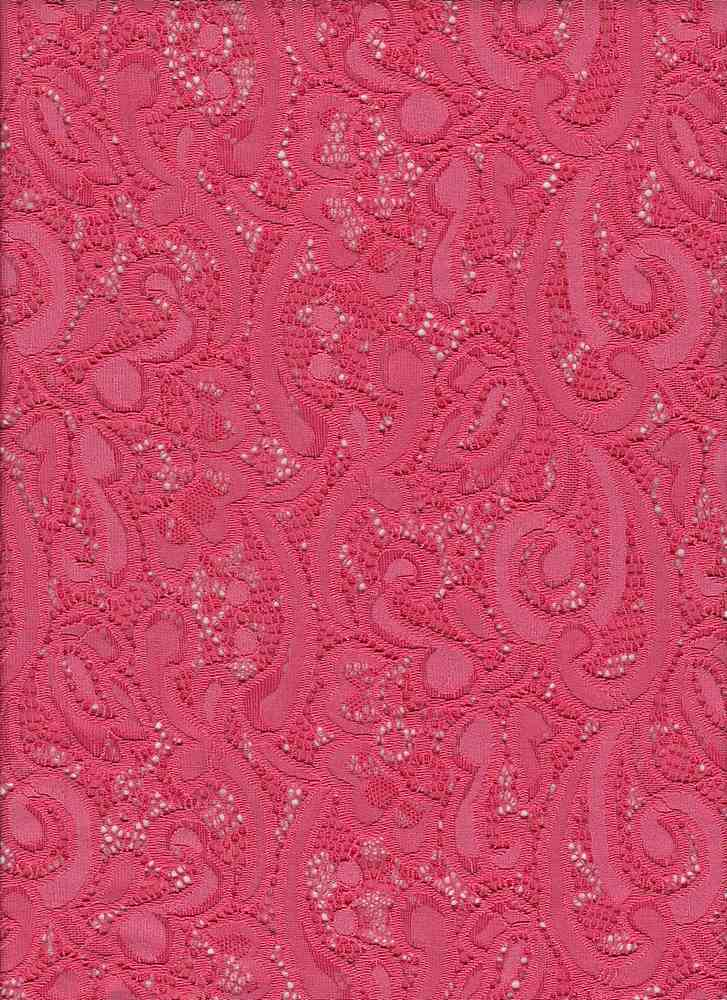 """76799-1000 / #999SPRNG CORAL / DONNA LACE 90/10 NYLON SPAN 58/60"""" 148GSM"""