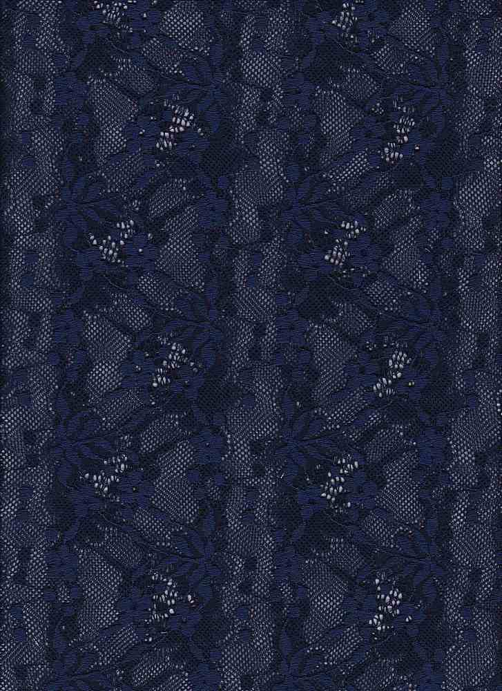 76797-1000 / #222NAVY / MARIE SCALLOP BORDER LACE 90/10NYLN SPN 58/60 133GS