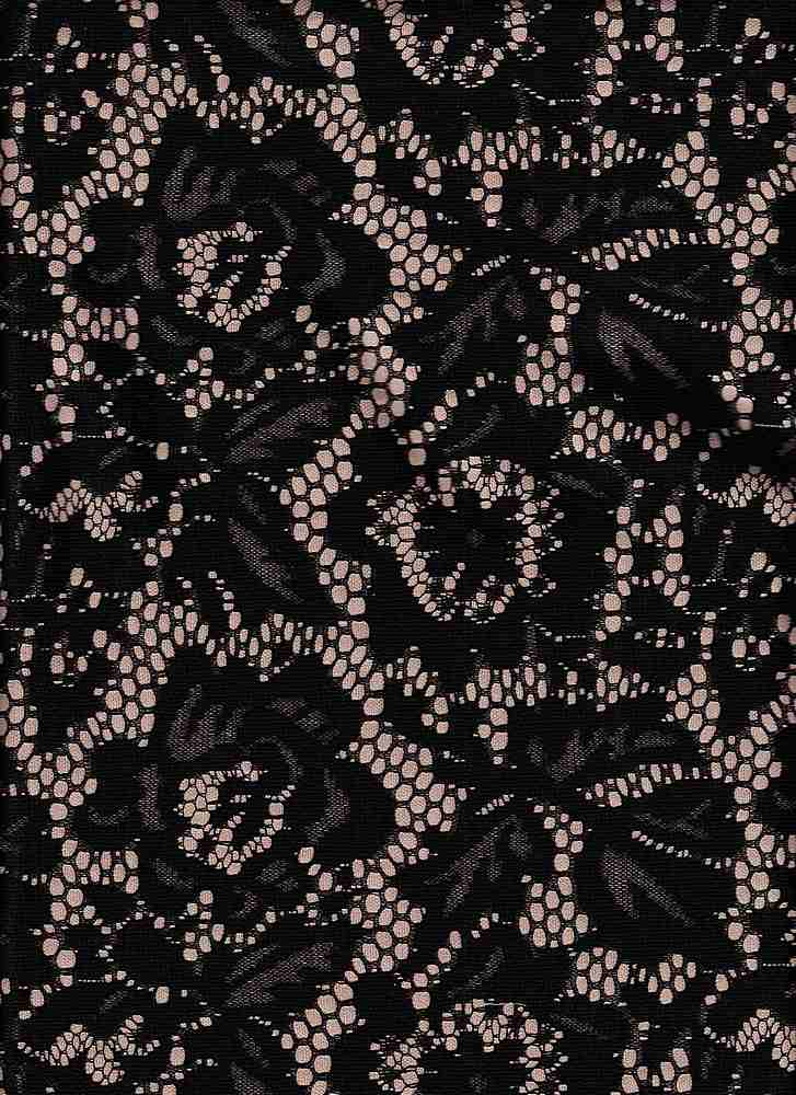 """76943-76408 / #000BLACK / GINA BONDED LACE 100% POLY 190gsm 56/57"""""""