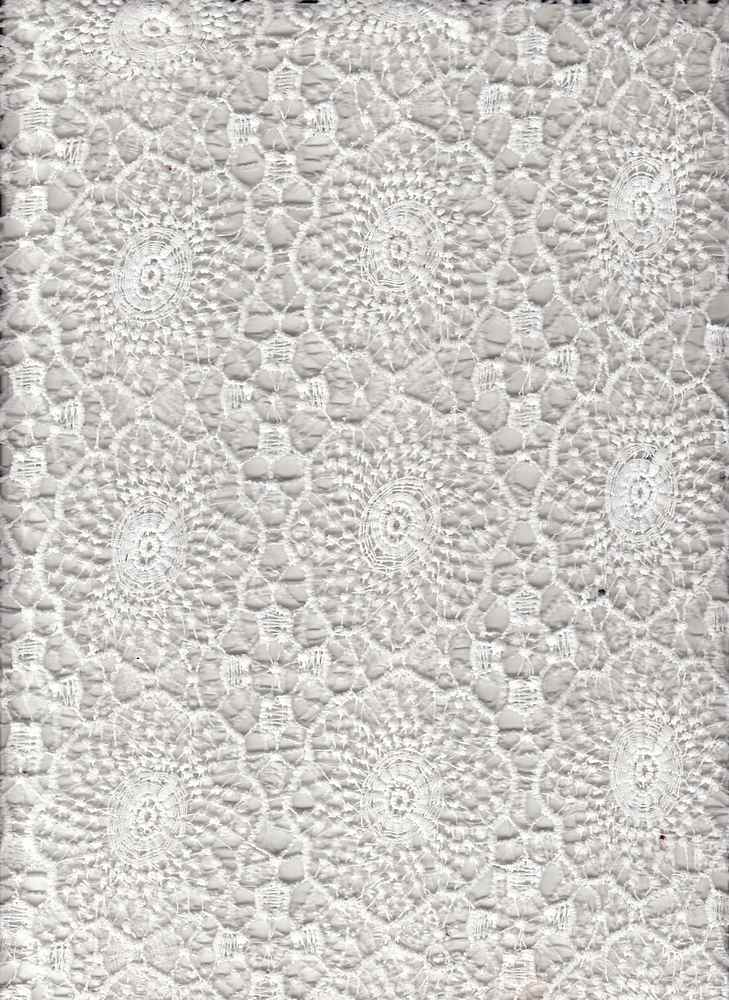 91543-1000 / #111OFFWHITE / JUDE CHEMICAL LACE 100%POLY 170GSM 48""